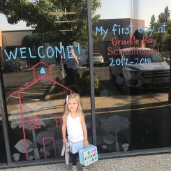 Journey's 1st day of Pre-school